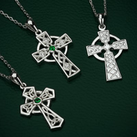 range of celtic cross pendants