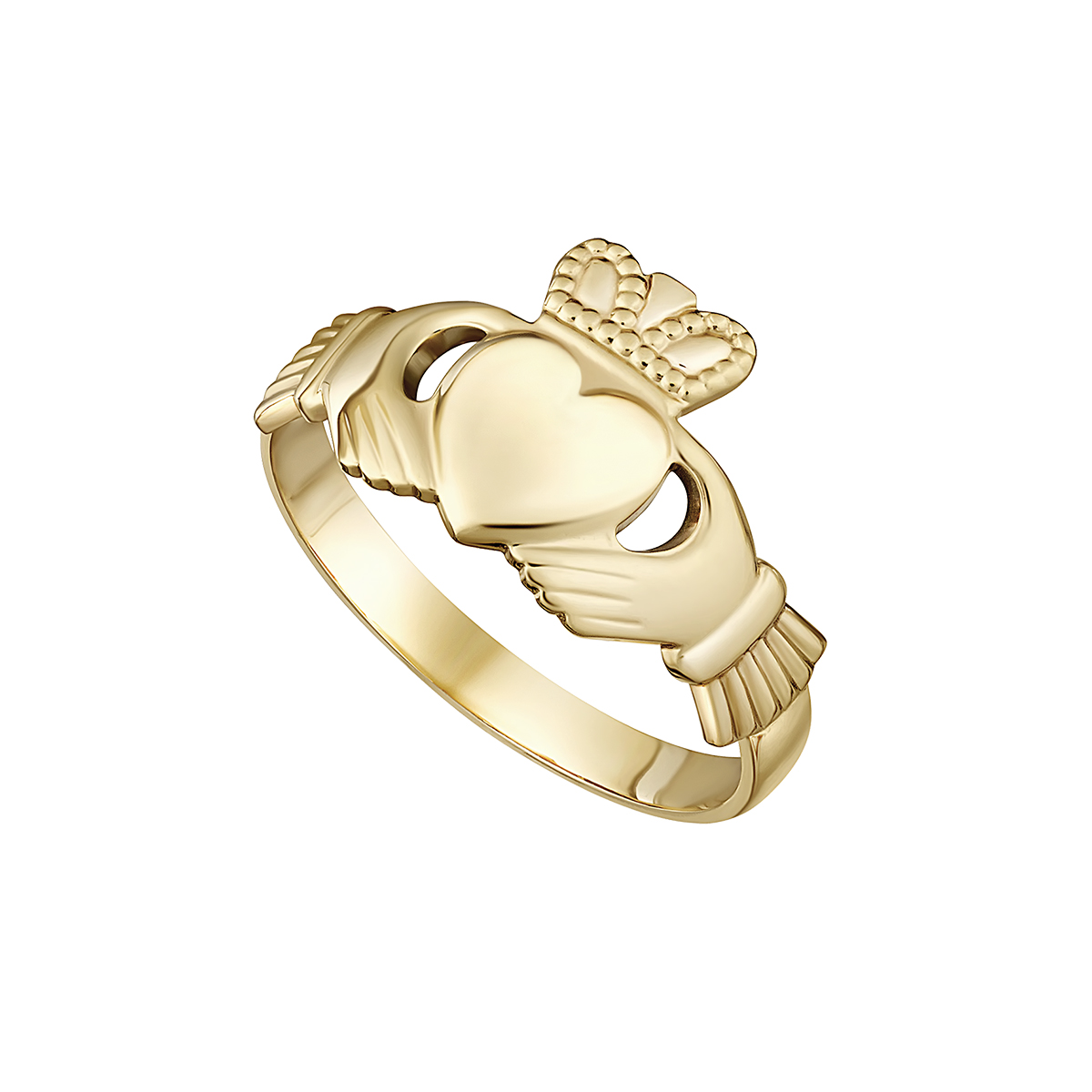 14K Gold Irish Claddagh Ring